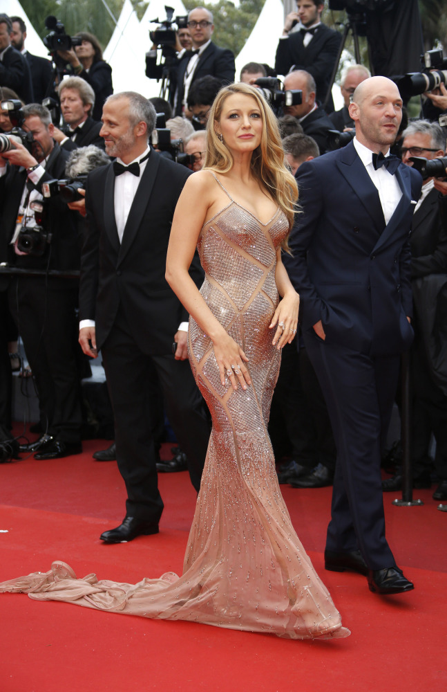 Blake Lively was one of the dazzling stars who attended the launch of this year's Cannes film festival.  (Source: www.aol.com)